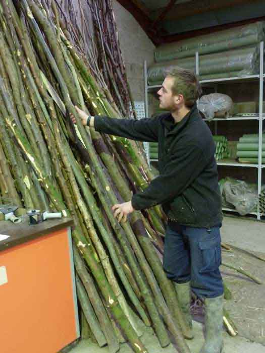 selecting a packing stick